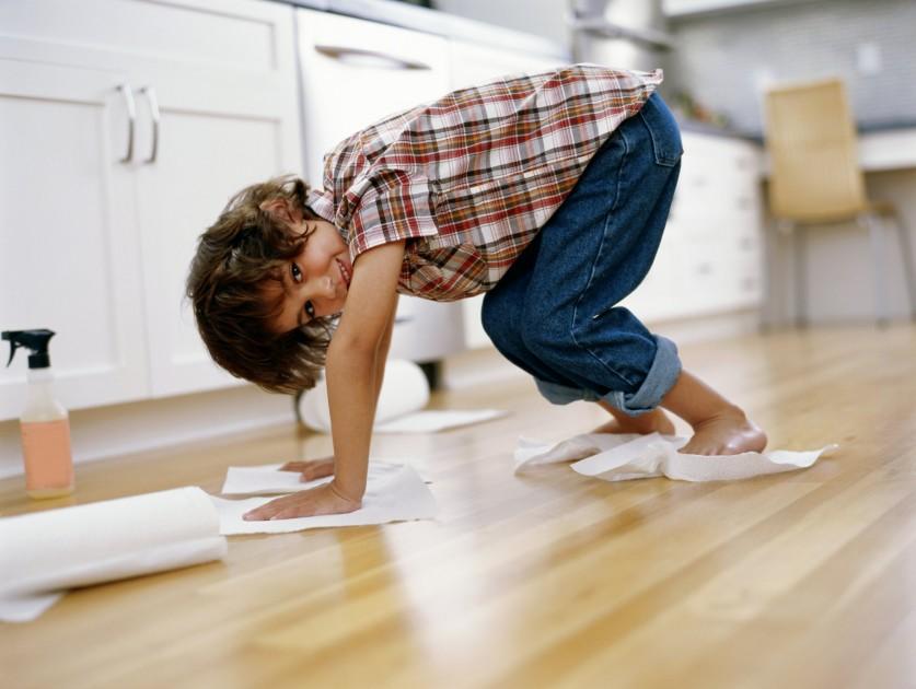 curăţenia cu copiii
