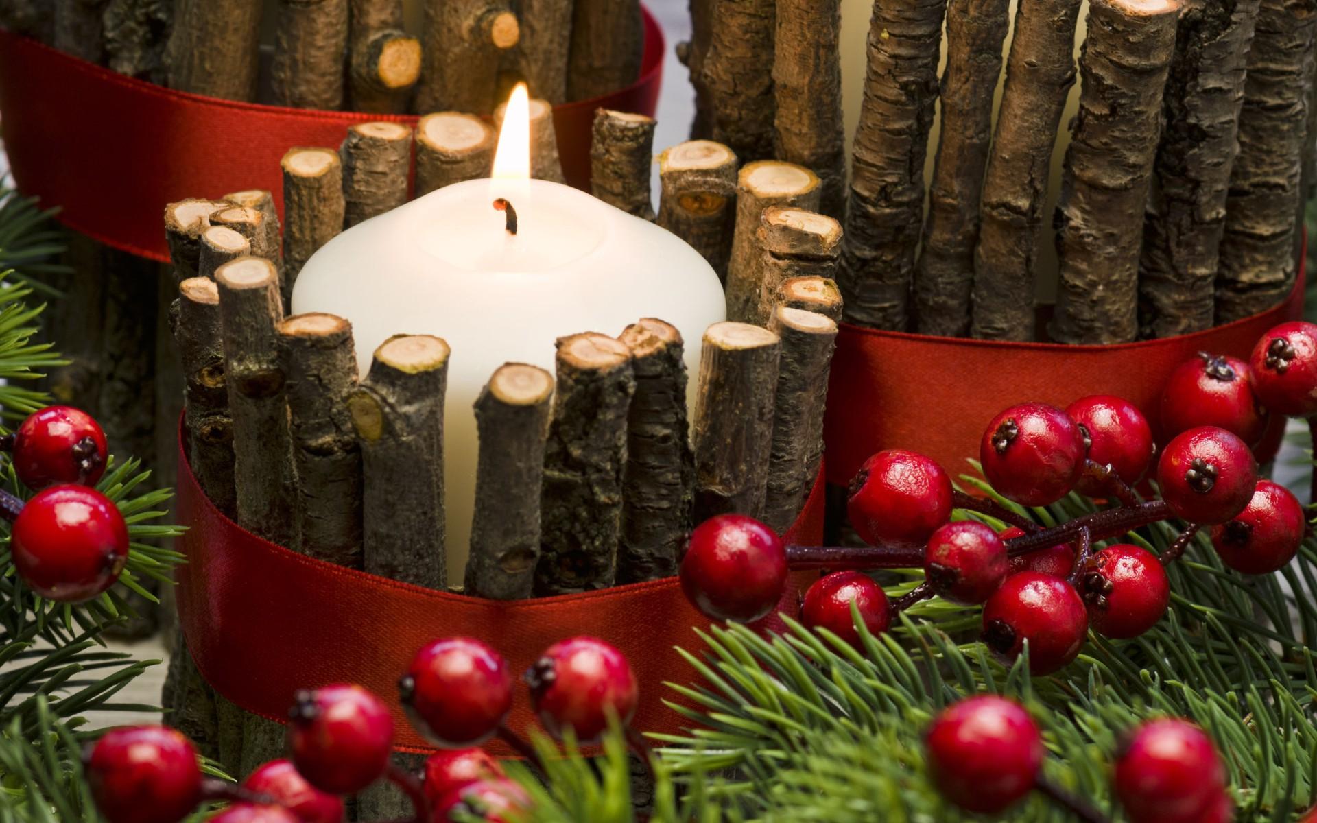 Aranjament Crăciun cu lumânare