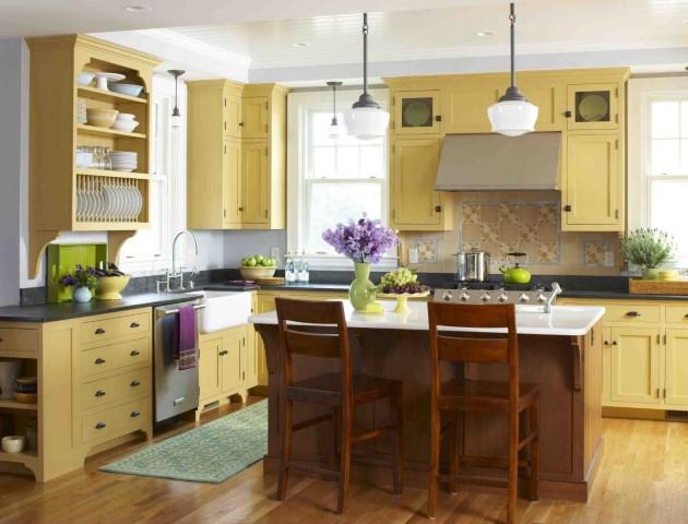 bucătărie colorată