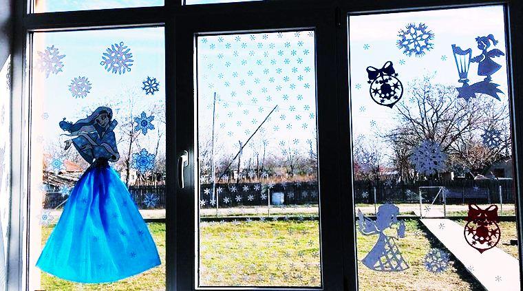 Decoratiuni handmade: ferestre de iarna