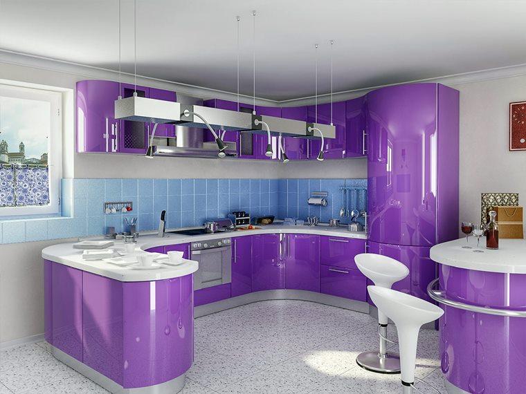 Culoare 2018 violet bucatarie