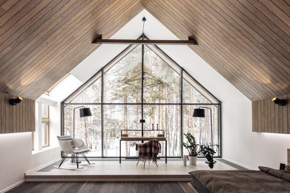 cabană modernă