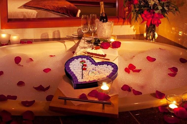 Amenajare baie romantica