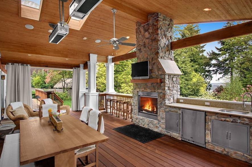 летняя кухня на даче проекты