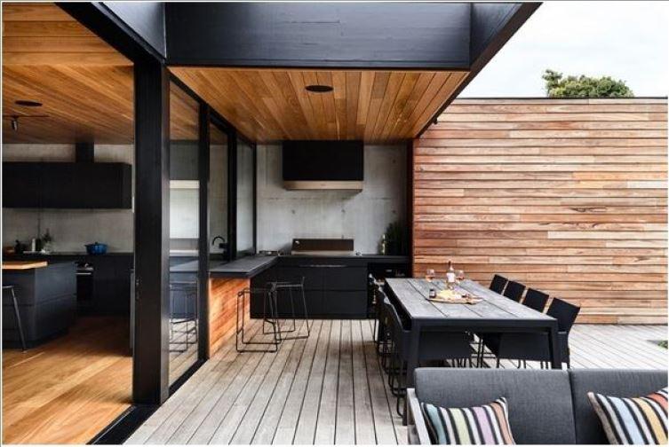 летняя кухня дом фото