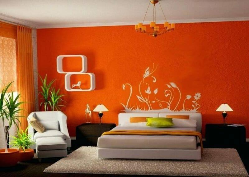 dormitor portocaliu