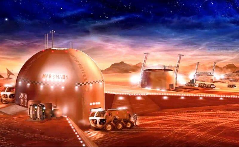 locuințe pe Marte