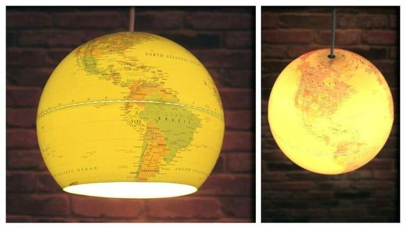 lampă pendul dintr-un glob pământesc