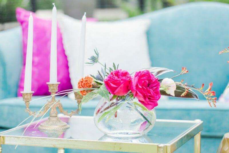 roz fucsia în design interior