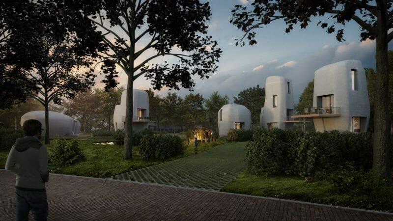 locuinţe construite din beton imprimat 3D
