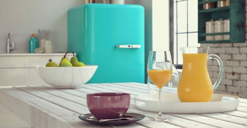 frigider albastru
