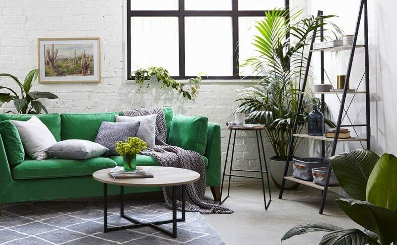 verde smarald accent in living