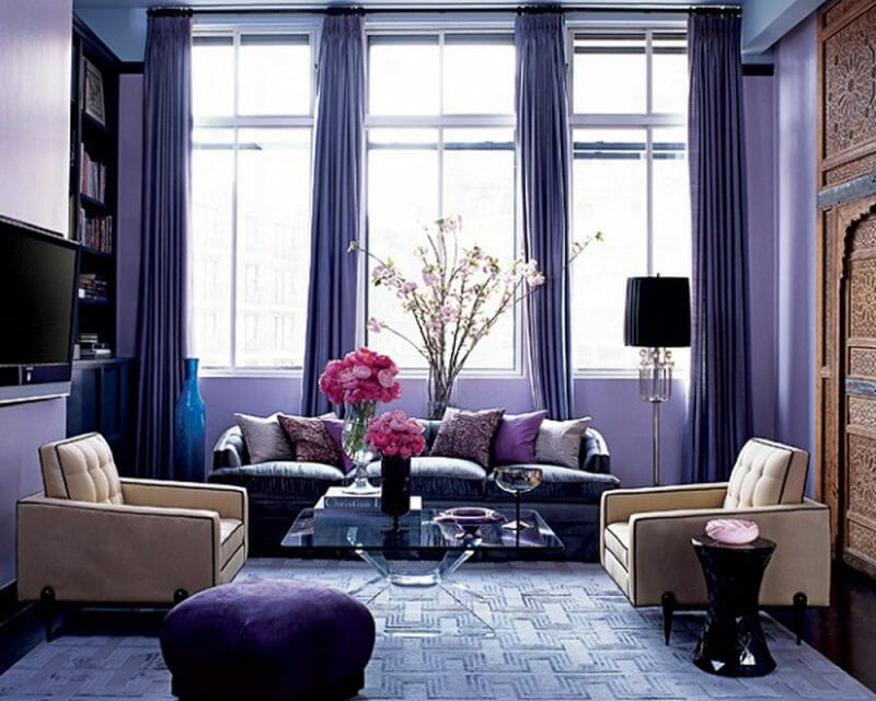 violet pentru un living modern