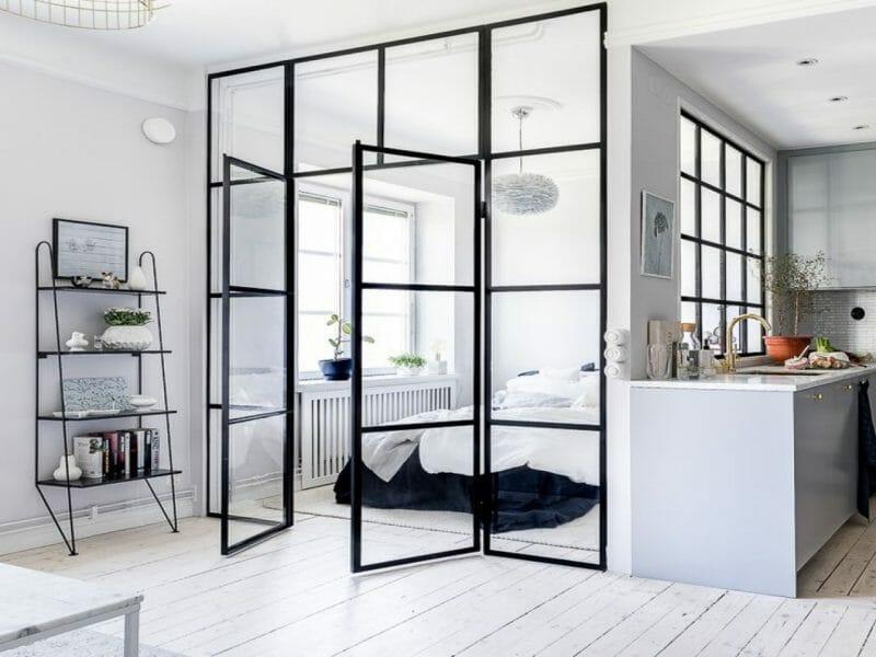 sticla în designul interior