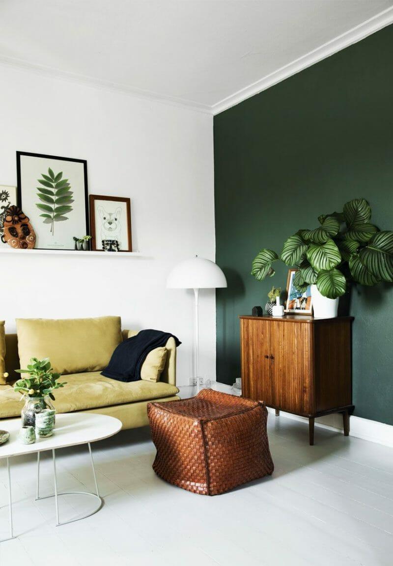 verde natura in designul interior