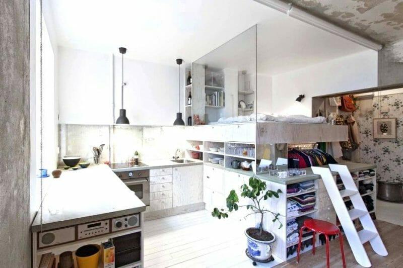 apartament mic cu multe spatii de stocare