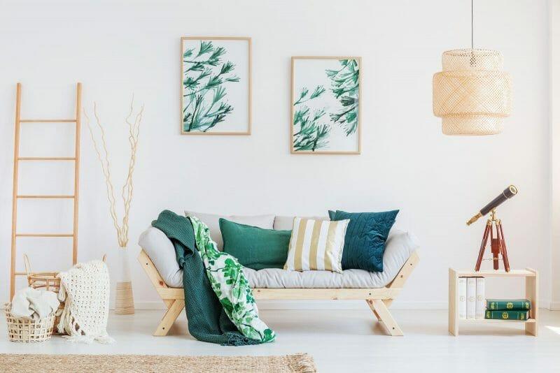 elemente de decor verde smarald