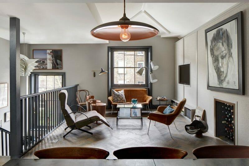 mix de mobilier living