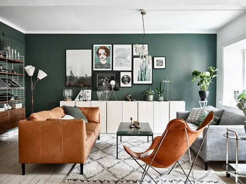 schema de culori cu verde natura